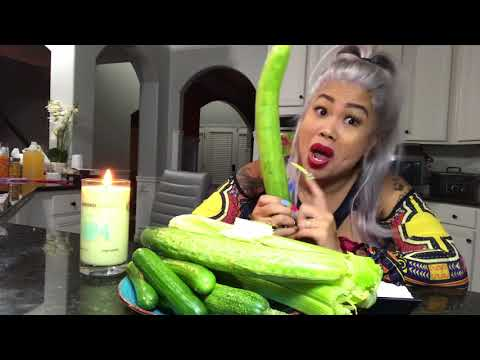 Late night cucumber ASMR with lovely Mimi XXX rated