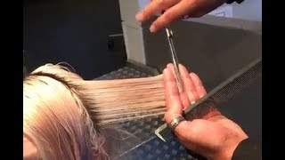 How to cut a Short Layered Bob Haircut step by stepTutorial - Part2