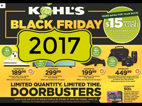 Kohl's Black Friday 2017 Full Overview!