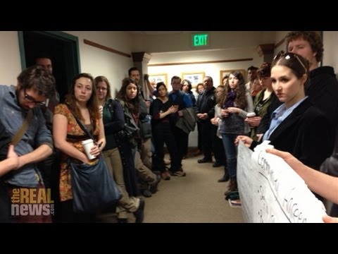 Hundreds of Students & Faculty Occupy College Campus to Fight Cuts to Public Higher Ed