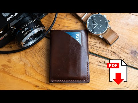 Make An EDC Leather Card Holder / FREE Template !