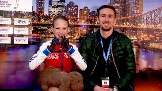Everybody loves Alexandra Trusova (Ted Barton, CBC comm, TAT) international debut season 2017/18