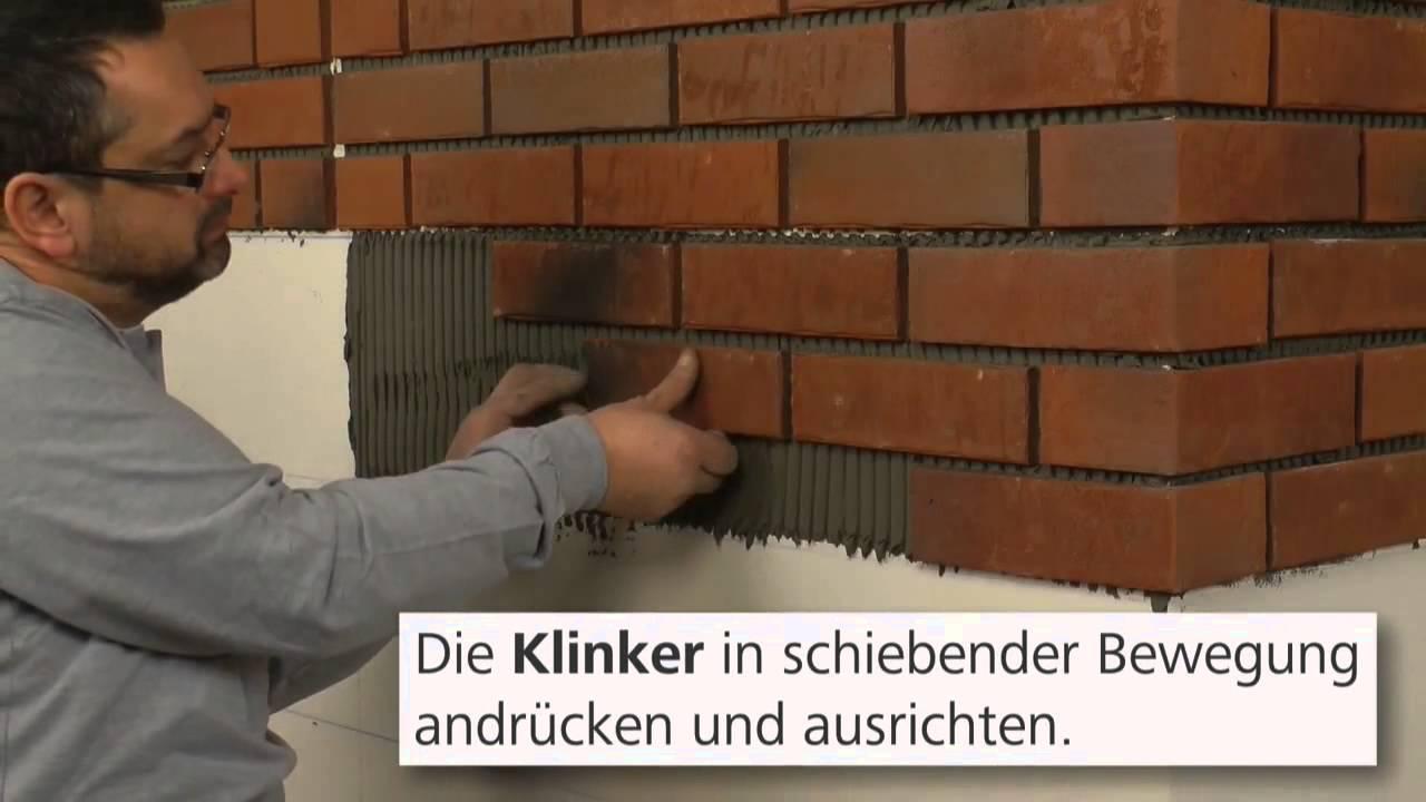 Sate clinker 1 2 colocaci n plaqueta youtube for Plaquetas decorativas para exterior