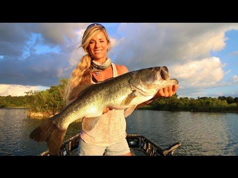 Big 8lb Bass Fishing Central Florida Private Ranch