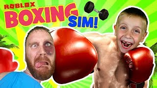 LIL FLASH is a GIANT! ROBLOX Boxing Simulator Father vs Son Battle Gameplay