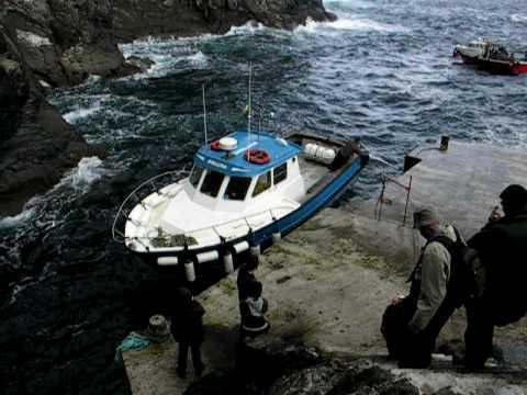 Skellig Michael ferries arrive - Ring of Kerry Ireland Eire