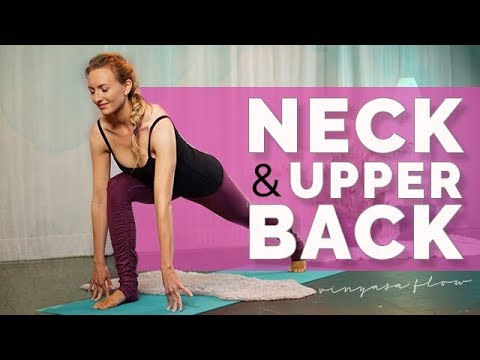 quickie yoga for neck and upper back pain 14min  youtube