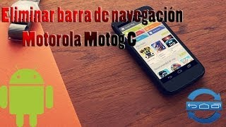 Eliminar barra de navegación Motorola Motog g - Auto Hide Soft Keys