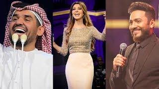 السوبر ستار حسين الجسمي ونانسي عجرم وتامر حسني في حفل افتتاح الماسة كابيتال الجمعة الـ 10 مساءً