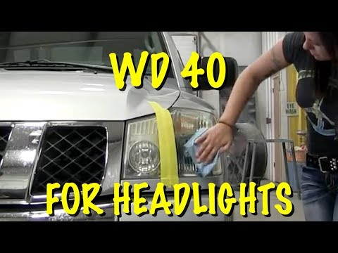 Clean Headlights With WD40 ( QUICK FIX ONLY)