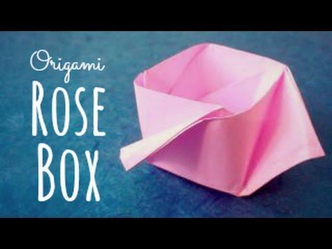 Origami Rose Box Maria Sinayskaya Youtube