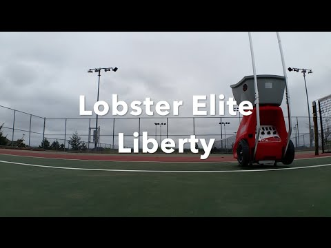 Lobster Elite Liberty Tennis Ball Machine (In Action ...