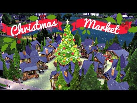 Sims 4 | House Build: Christmas Market