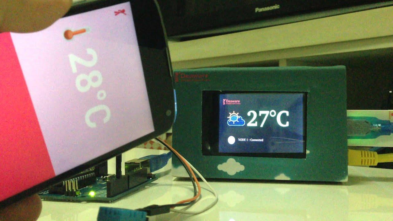 Qt + Raspberry PI Gateway,Arduino Slave and Android ( THAI language