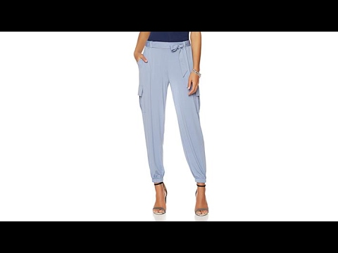 Serena Williams Jersey Cargo Pant with SelfTie Belt