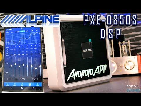 Alpine PXE-0850S APP CONTROL - Sound Test - AMP Dyno - 4K SHOTS