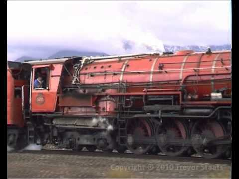 South African Steam: SAR Class 26 3450 Red Devil Ashton South Africa 17 Aug 2002