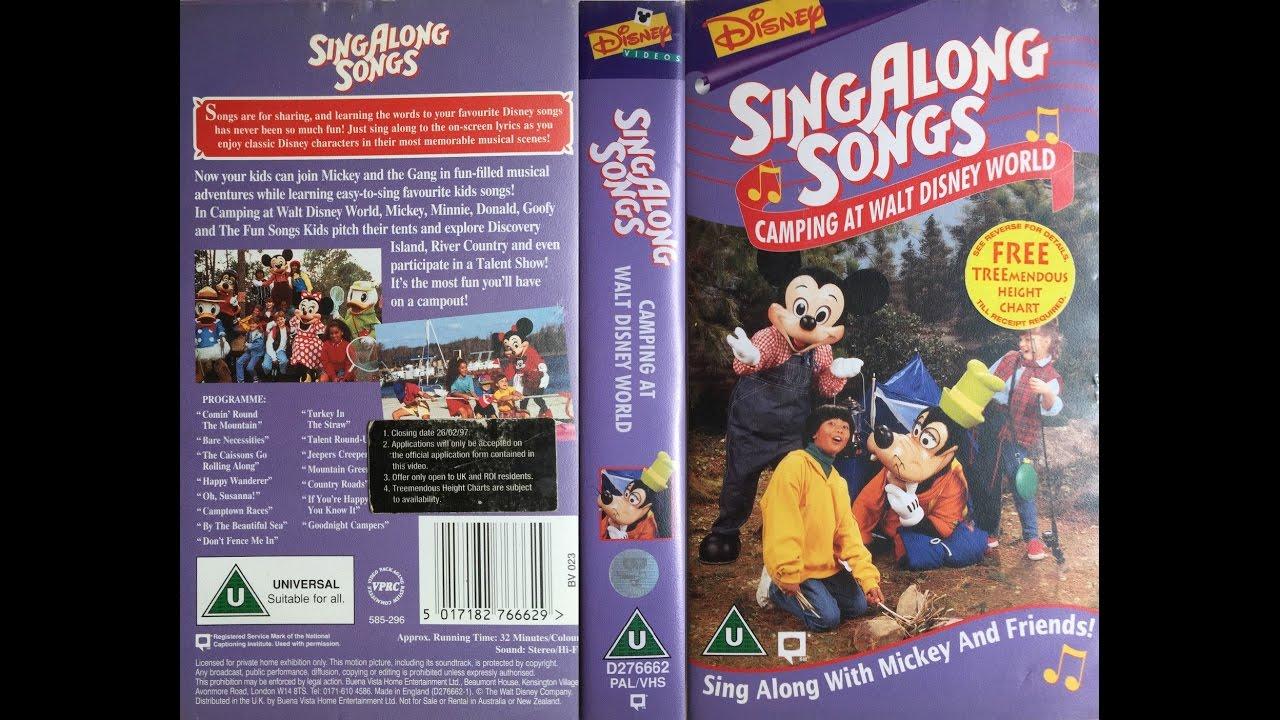 Mickey S Fun Songs Camping At Walt Disney World Vhs 1996 Youtube