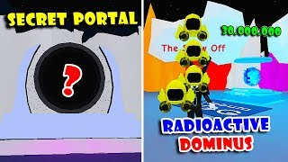 *NEW* SECRET PORTAL AND BUYING FINAL RADIOACTIVE DOMINUS MOON HAT | Roblox Hat Simulator