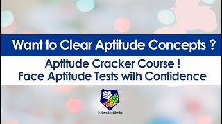 Want to Clear Aptitude Concepts ? Aptitude Cracker Course by Talent Battle !