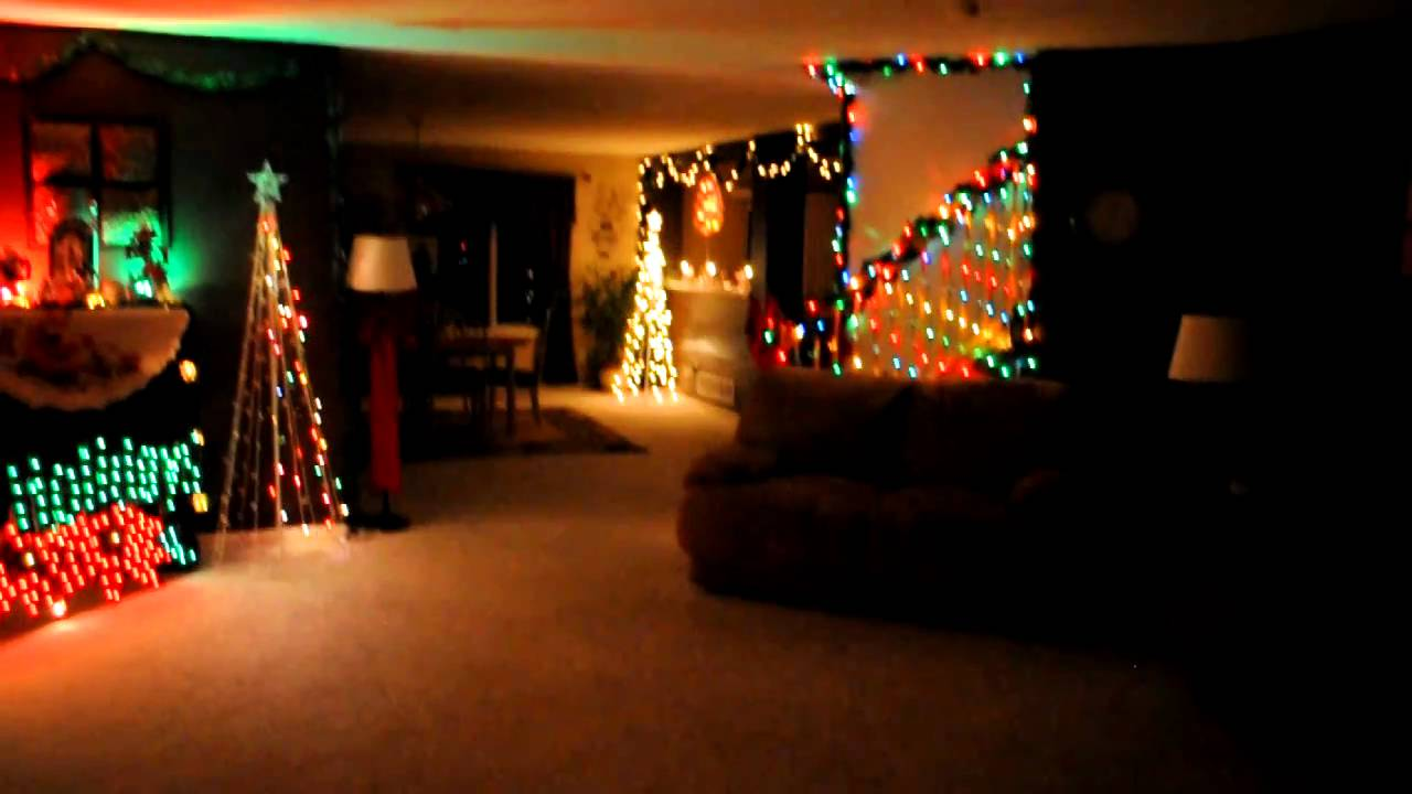 Indoor Christmas Lights to Music  YouTube