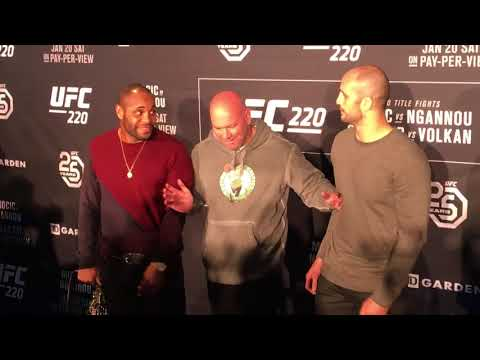 UFC 220 staredowns between Cormier-Oezdemir and Miocic-NGannou | ESPN