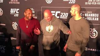 Ufc 220 Staredowns Between Cormier Oezdemir