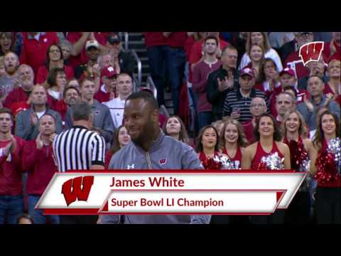 James White Basketball Introduction Feb 19