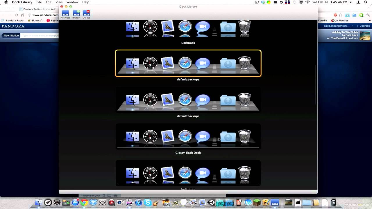 dock library mac os x download