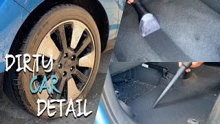 DIRTY CAR DETAILING | Deep Cleaning Dirty Car Interior and Complete Exterior Detail