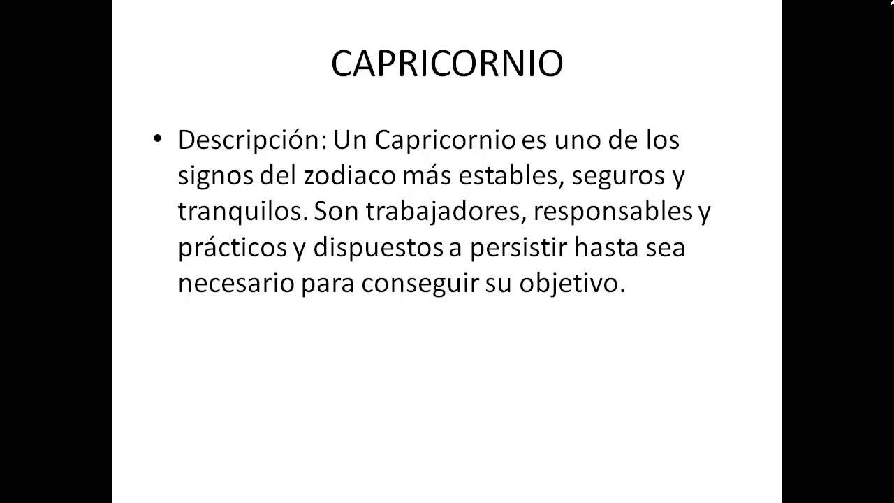 Caracteristicas De Capricornio