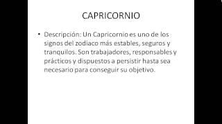 Caracteristicas de los signos del zodiaco - Caracteristicas de Capricornio