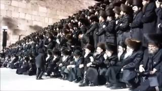 Skver Rebbe Visiting The Kosel - Erev Rosh Chodesh Shvat  5776