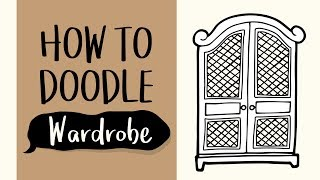 How to Draw a Wooden Wardrobe (Easy Step by Step Drawing and Coloring Tutorial)