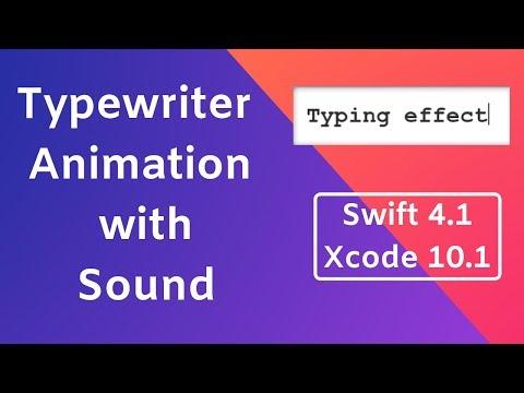 Swift: Typewriter Animation with sound using RunLoop thumbnail