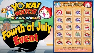 Yo-Kai Watch Wibble Wobble - Fourth of July Event! [iOS Android Gameplay]