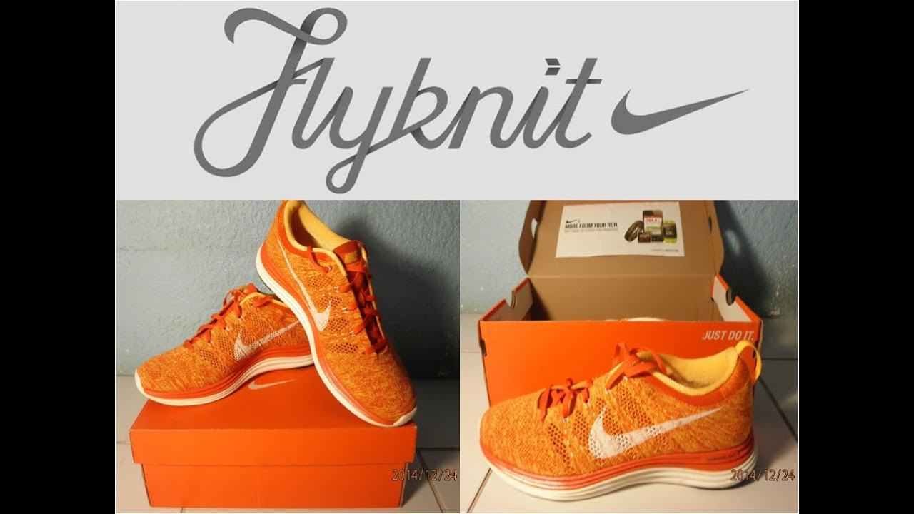 Nike Flyknit Lunar 1+ (Orange) In Stop Motion