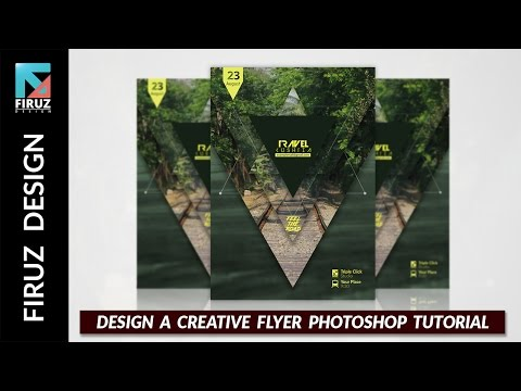 Design A Creative Flyer Photoshop Tutorial & Free Project Fi