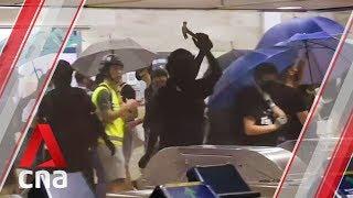Hong Kong demonstrators damage Sha Tin MTR station to protest anti-mask law
