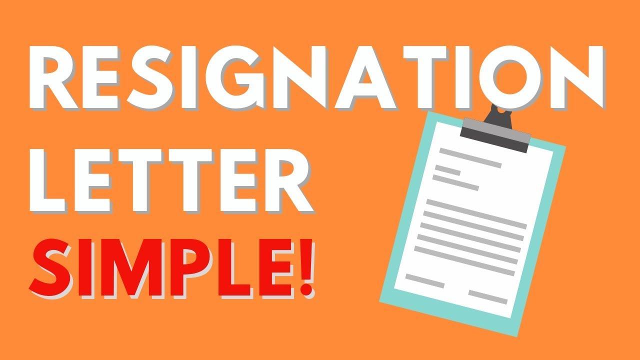 Resignation Letter Sample from i.ytimg.com