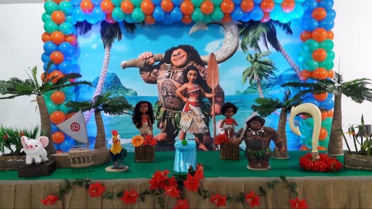 Idéias de Decoração de Festa - Tema  - Moana #1