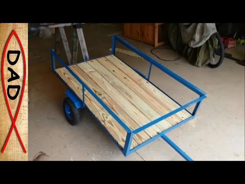 DIY lawn mower trailer / garden cart