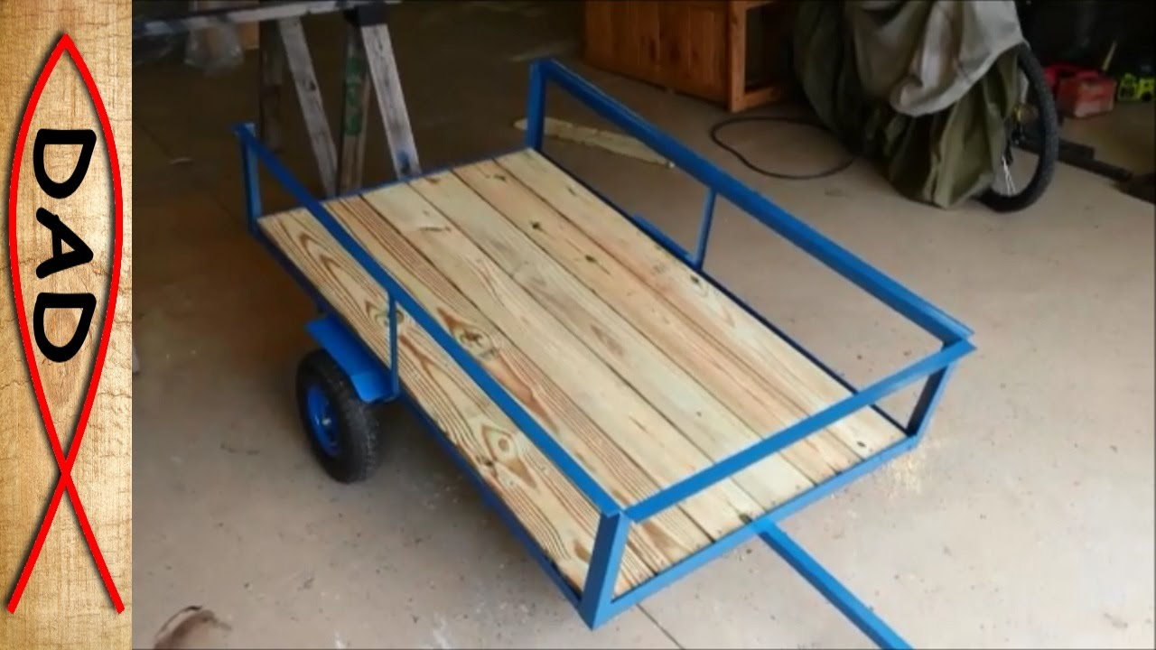 Diy Lawn Mower Trailer Garden Cart Youtube