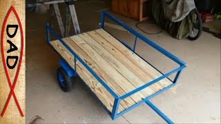 Diy Lawn Mower Trailer Garden Cart