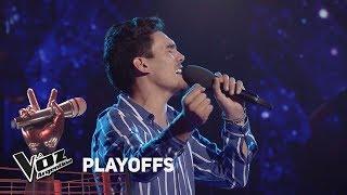 """Playoffs #TeamMontaner - Mario canta """"Volver"""" de Ricardo Mon..."""