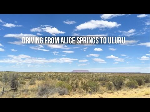 Driving from Alice Springs to Uluru - Tjoez.com