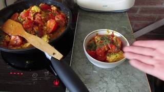 Индийская кухня: Жареные помидоры с сыром (Таматар панир малай)