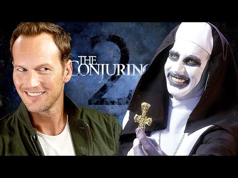 The CONJURING 2  Creepy  with Patrick Wilson & James Wan & Valak
