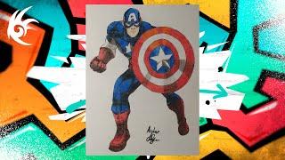 Drawing - MARVEL: Битва чемпионов - Капитан Америка