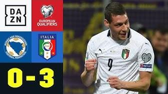 Weiße Weste für die Squadra Azzurra: Bosnien-Herzegowina - Italien 0:3 | EM-Quali | DAZN
